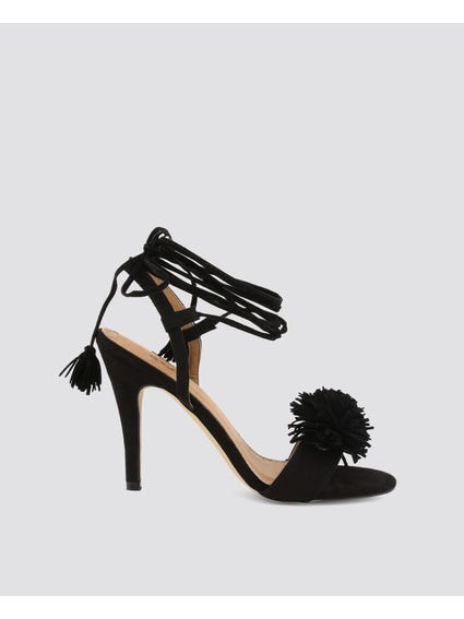 Black Tunit Sole High Heel Sandals
