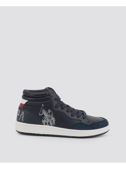 Blue Alwyn Big Logo High Top Sneakers