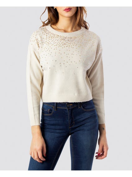 Embellished Sequin Sweater