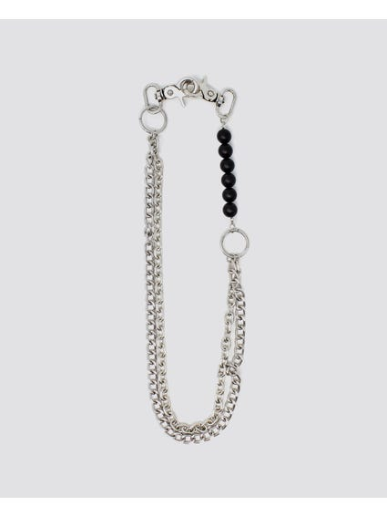 Black Metallic Chains Keyring