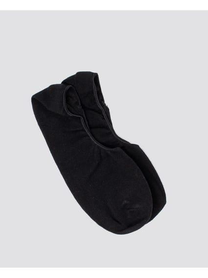 Black Plain No Show Socks
