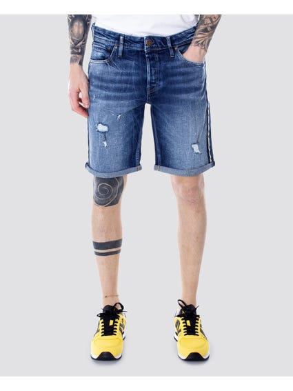 Blue Distressed Denim Short