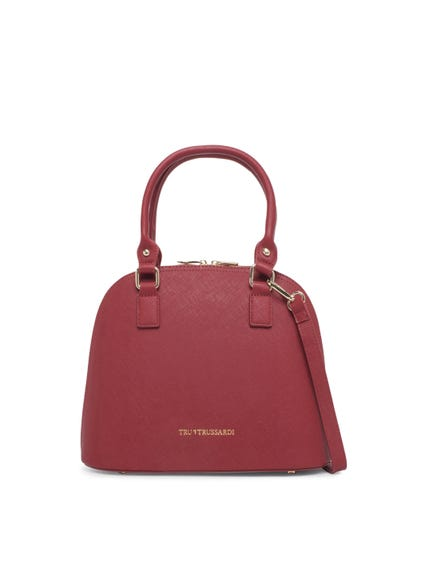 Textured Zip Single Hand Bag