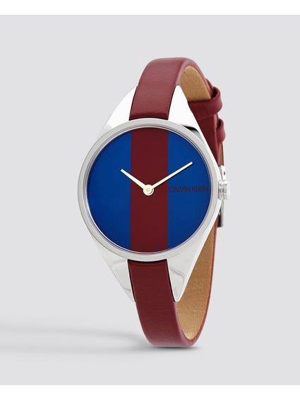 Rebel Burgundy and Blue Dial Watch
