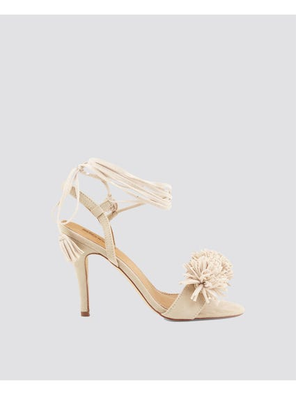 Beige Tunit Sole High Heel Sandals