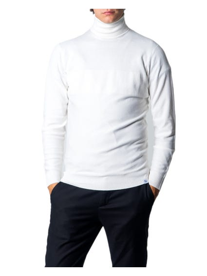 White Turtleneck Plain Knitwear