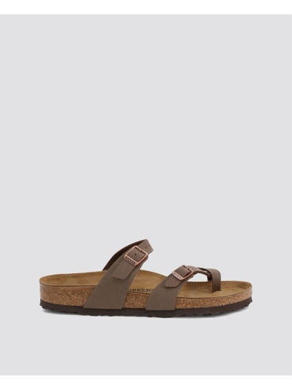 Brown Buckle Leather Sandals