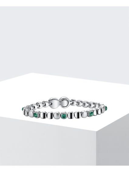 Silver Rolling Diamond Bracelet