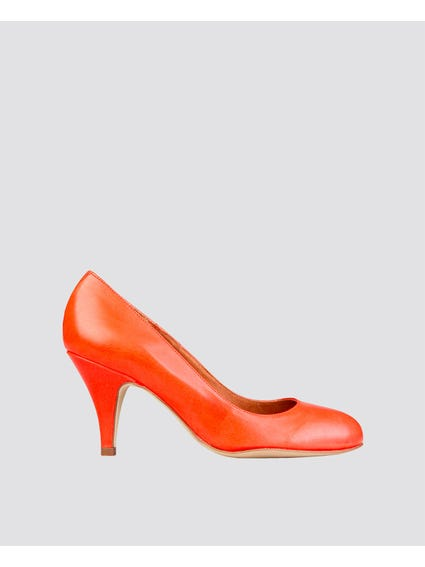 Red Patent Pointed High Heel Pumps