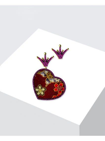 Red Seta Zirconia Earrings