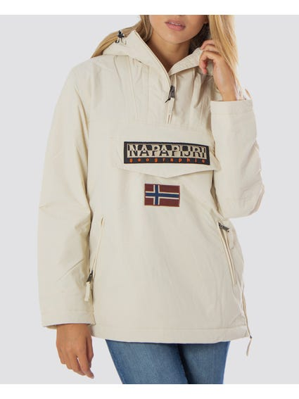 OffWhite Embroidered Hooded Jacket