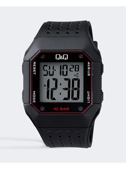 Black Digital Resin Watch