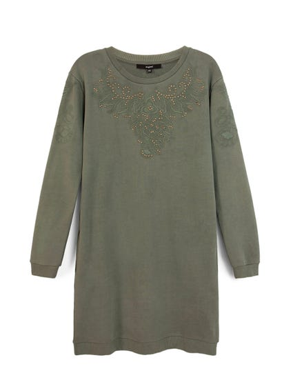 Long Sleeve Embroider Dress