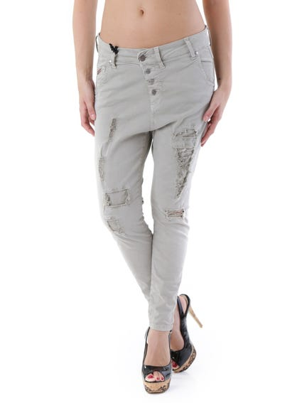 Distressed Button Trouser