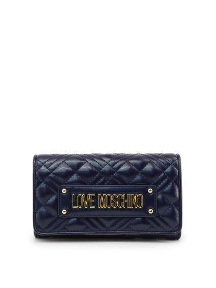 Blue Snap Quilted Wallet