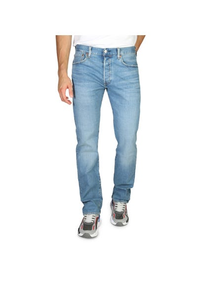 Blue Washed Straight Cut Jeans