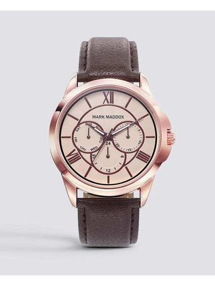 Stainless steel Rose gold Dial Watch