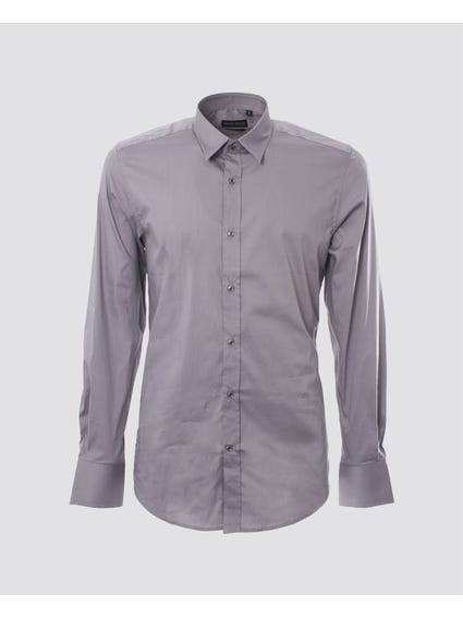 Grey Classic Long Sleeves Shirt