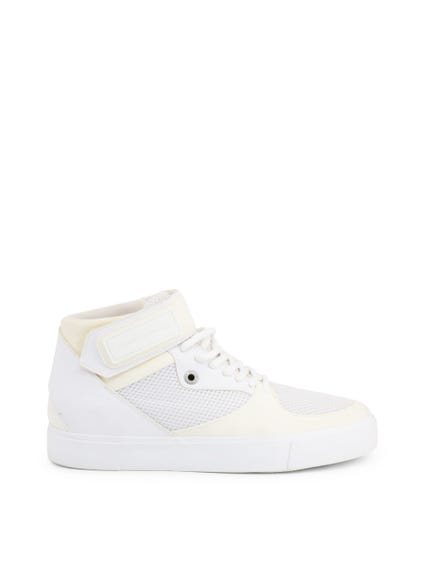 High Top Velcro Strap Mesh Sneakers