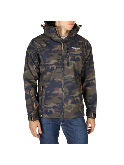 Brown Camouflage Removable Hood Jacket