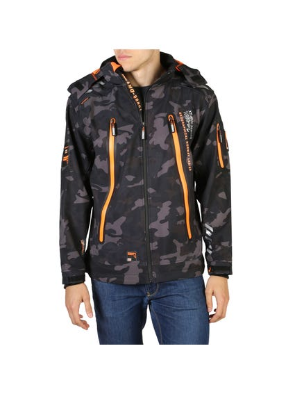 Hooded Zip Up Camo Jacket