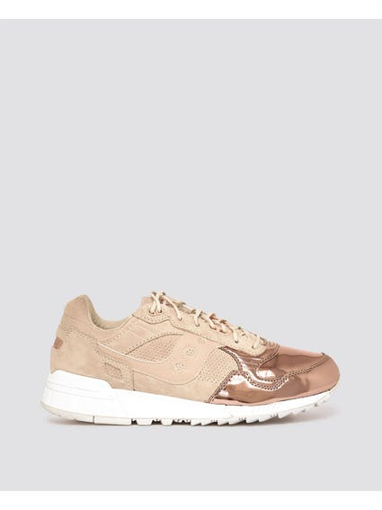 Rose Gold Shadow Pattern Sneakers