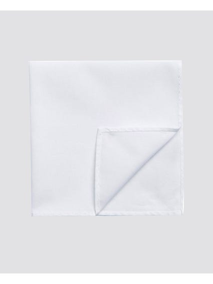 White Plain Texture Handkerchief