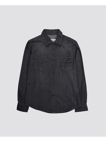 Flap Pockets Kids Shirt