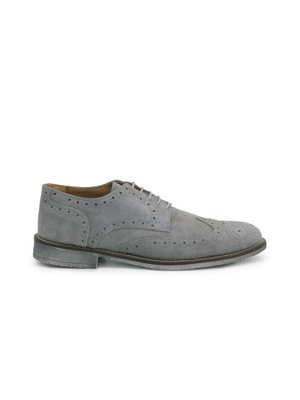 Suede Lace Up Brogue Shoes
