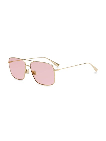 Double Bridge Metal Sunglasses