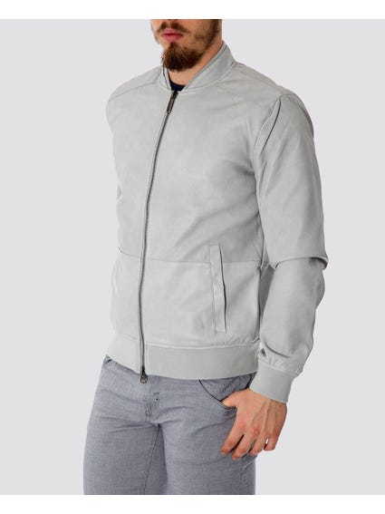 High Neck Zip Up Bomber Jacket