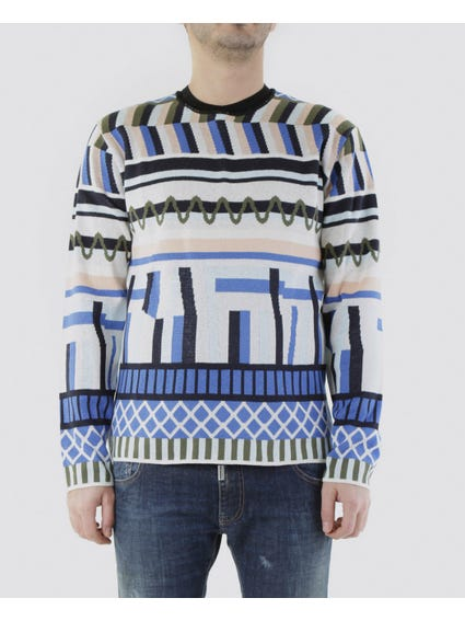 Multicolour Long Sleeves Sweater