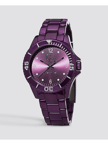 Purple Dial Analog Watch
