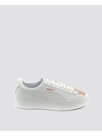White Classic Haze Platform Sneakers