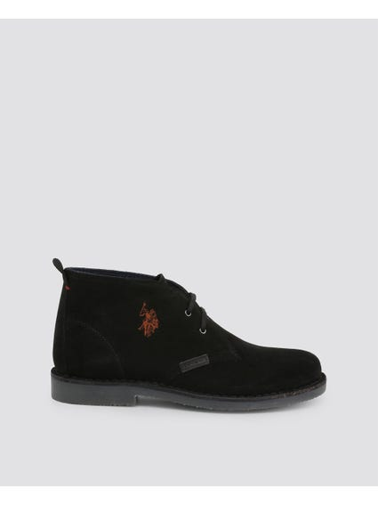 Black Must Embroidered Logo Lace Up