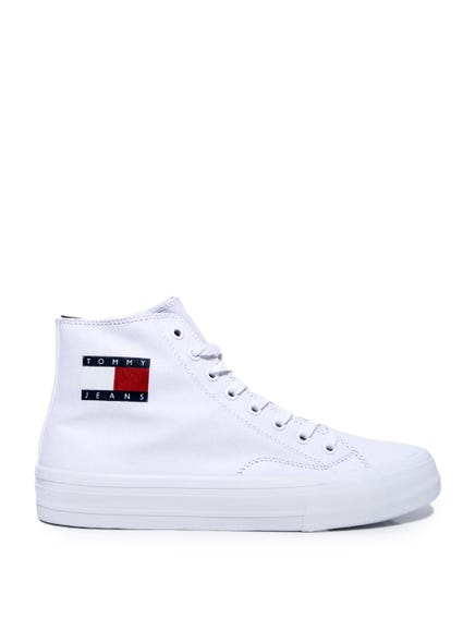 High Top Lace Canvas Sneakers