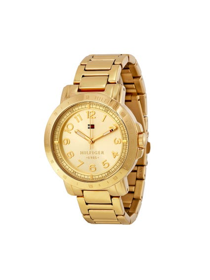 Yellow Dial Analog Watch