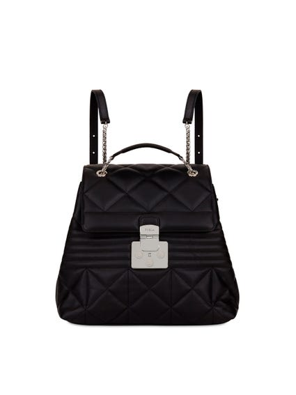 Magnetic Flap Quilted Backpack