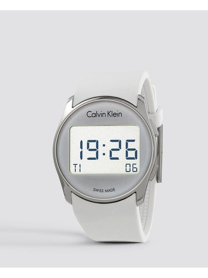 Future Digital White Rubber Watch