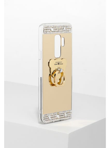 Gold Sequin Embellished Samsung S9+ Cover
