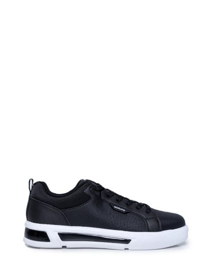 Black  Contrast Sole Lace Sneakers