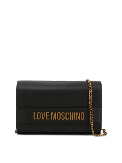 Black Embellish Love Clutch Bag