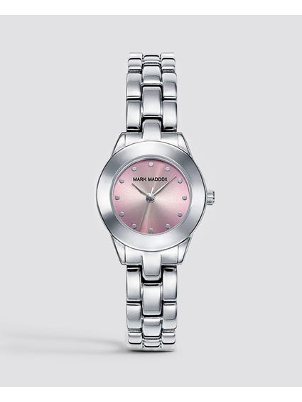 Silver Studs Stainless Steel Watch