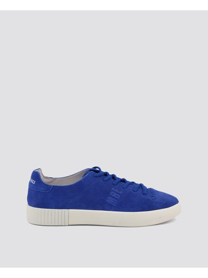 Blue Cosmos Lace Up Sneakers