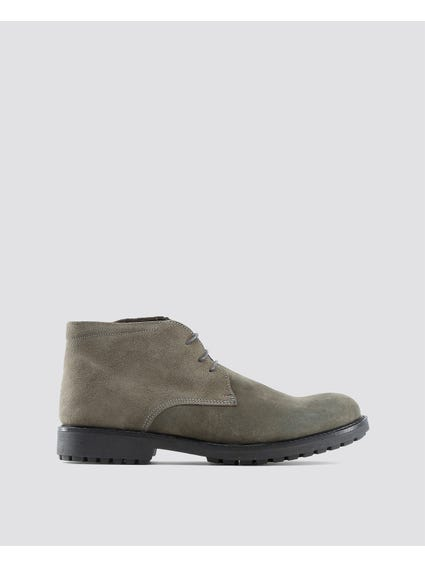 Grey Simone Cleated Sole Boots