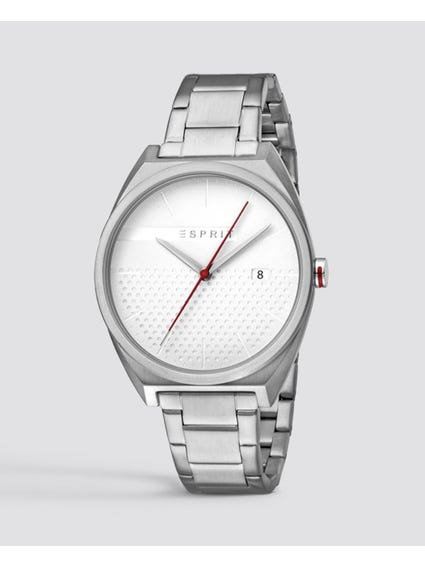 Silver Slice Analog Watch