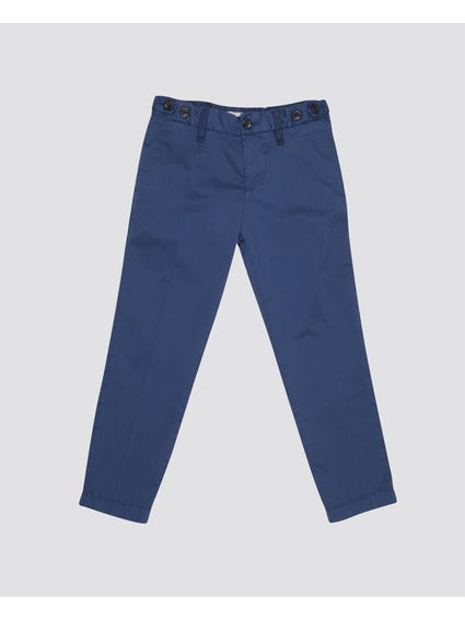 Blue Full Length Kids Trouser