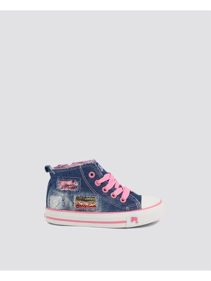 Blue Denim Kids Sneakers