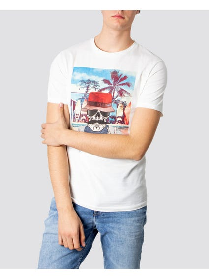 White Ricky Crew Neck T-Shirt