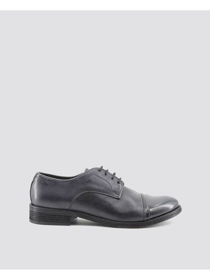 Grey Alberto Patent Toe Cap Lace Up Shoes